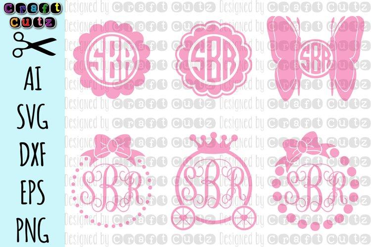 Girly Monogram svg, Monogram svg Set, Princess svg, Bow Monogram SVG, Butterfly svg, Monogram Cut Files, Princess Cut Files