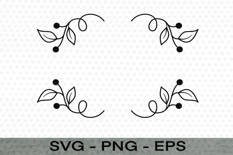 Wreath svg cut file, Svg clip art, Leaves Svg, Flourish Svg