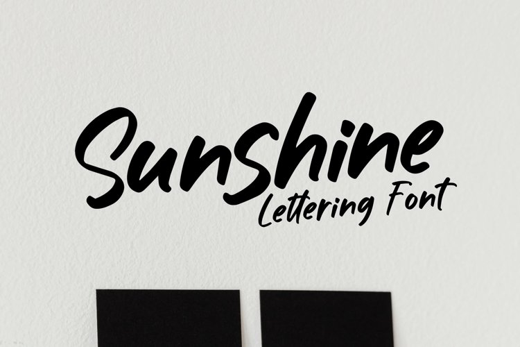 Web Font Sunshine - Lettering Font example image 1
