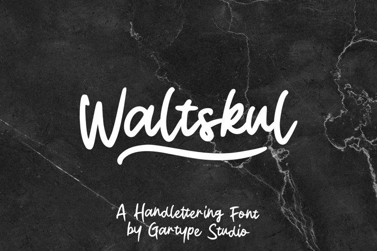 Waltskul - Handlettering Font // Web font example image 1