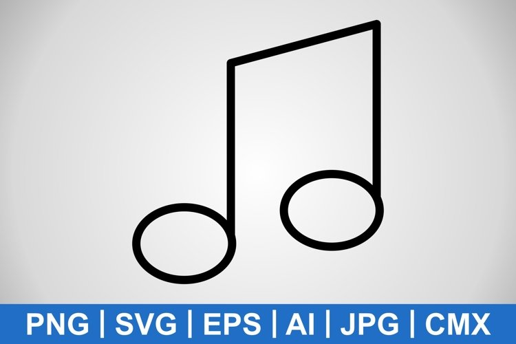 Vector Music Note Icon example image 1