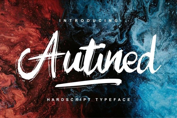 Autined | Hardscript Typeface Font example image 1