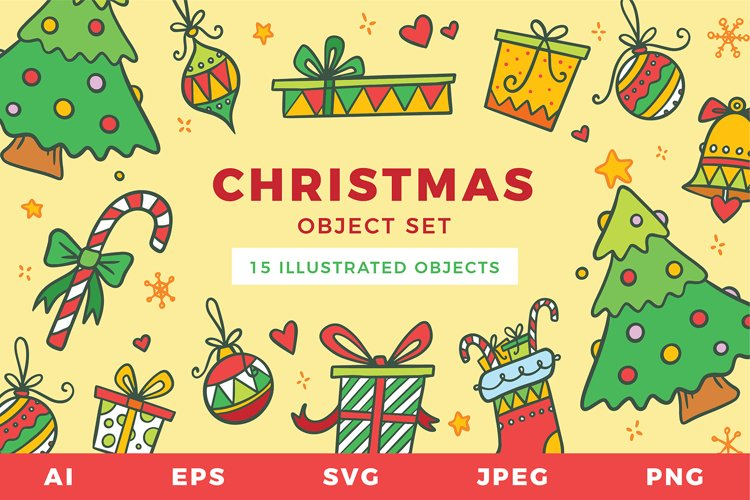 Christmas Sublimation Set | Multipurpose Vector Objects