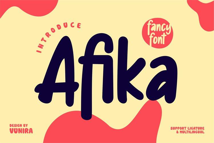 Afika | Fancy Font example image 1