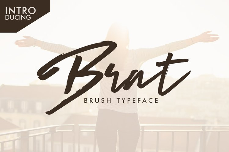Web Font Brat Brush example image 1