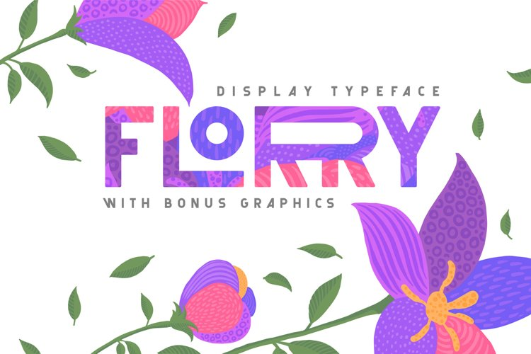 Florry font & illustrations example image 1