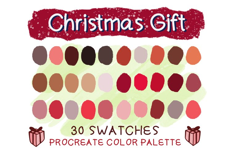 Christmas Gift Procreate Color Palettes example image 1