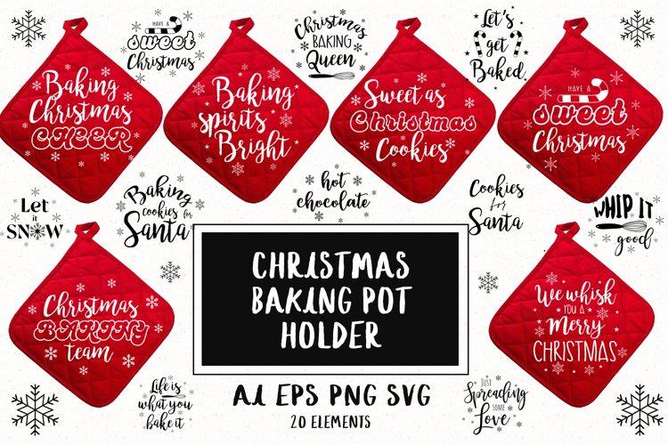 Christmas Baking Pot Holder