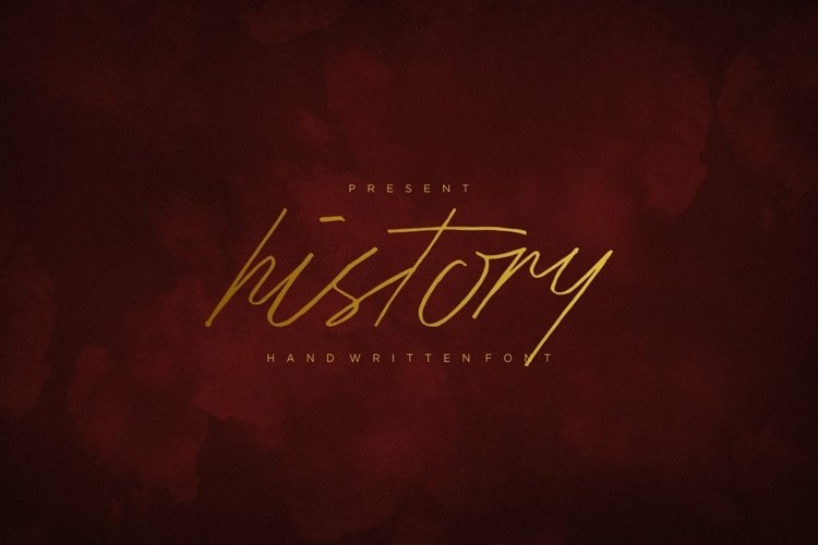 Web Font History Script Font example image 1