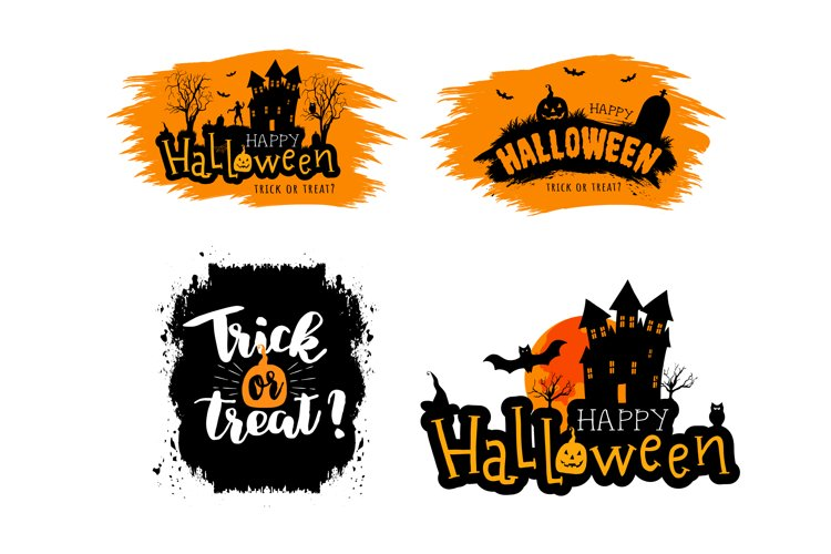 Collection of vector halloween stickers example image 1