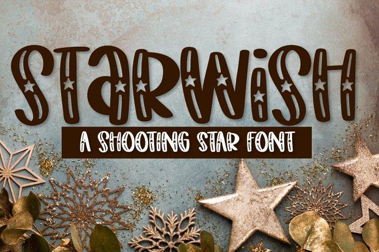 Web Font Starwish - A Shooting Star Font example image 1