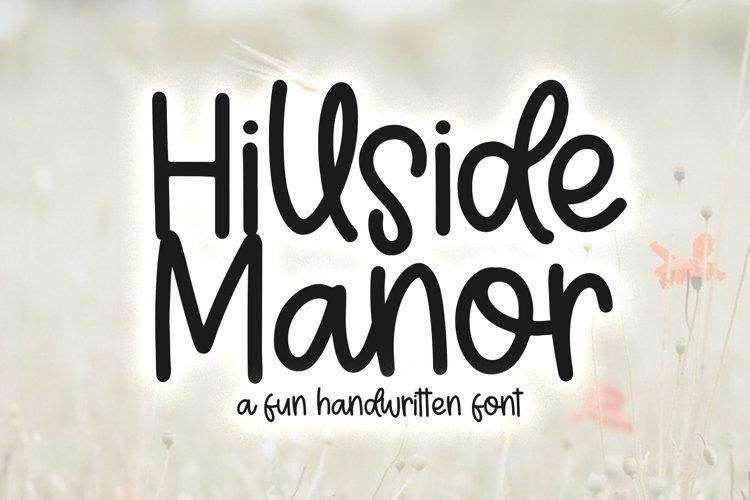 Web Font Hillside Manor - A Fun Handwritten Font example image 1
