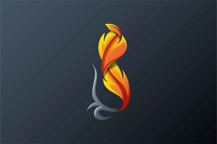 Feathers logo design vector example image 1