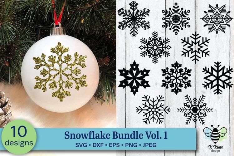 Snowflake SVG Bundle Vol 1   Christmas Ornament SVG