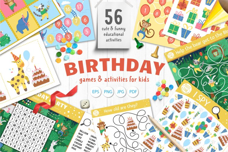 Download Birthday Games And Activities For Kids 1144944 Educational Design Bundles