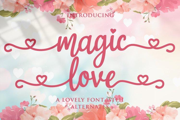 magic love - wedding font example image 1