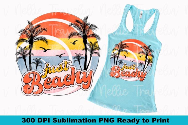 Just Beachy Retro Beach Summer Cruise Island Sublimation example image 1