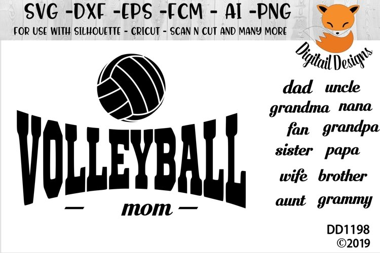 Volleyball Family SVG