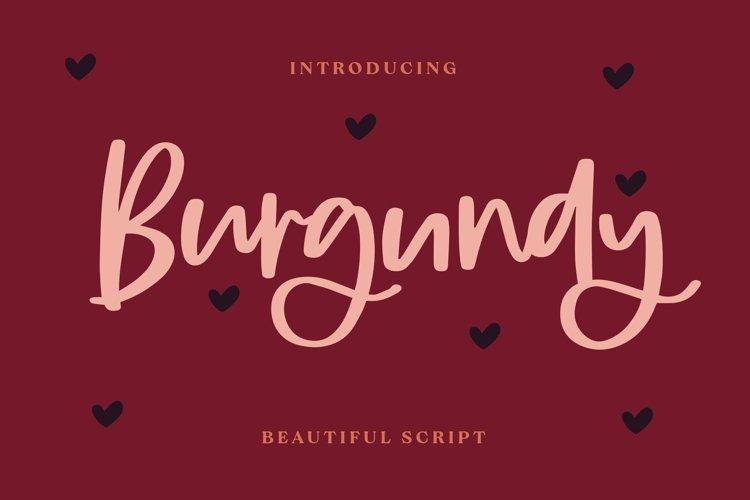 Web Font Burgundy - Beautiful Script Font example image 1
