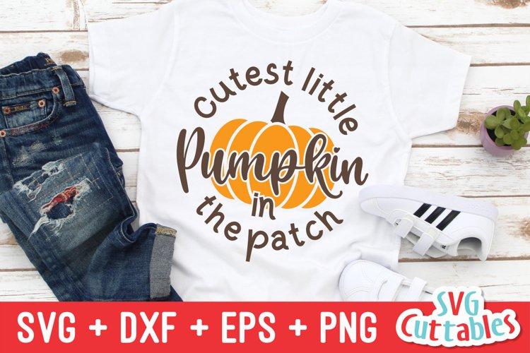 Fall SVG   Cutest Little Pumpkin   Autumn   Shirt Design example image 1
