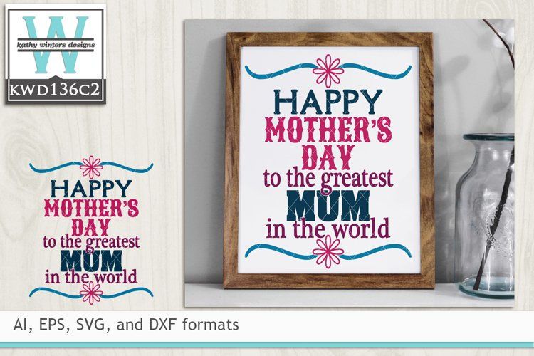Mothers SVG - Happy Mother's Day Mom example image 1