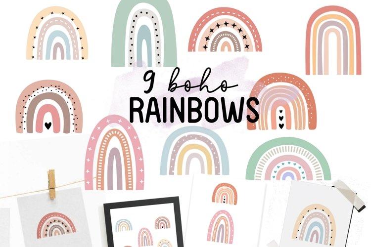 Boho Rainbow SVG cut file-Rainbow Illustrations