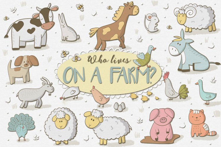 Who Lives on a Farm - Free Design of The Week Font