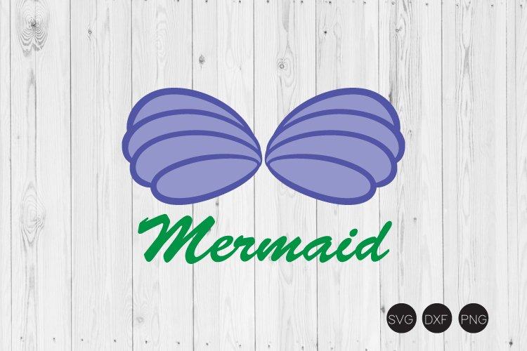 Mermaid Shell SVG, Mermaid SVG, DXF, PNG Cut Files