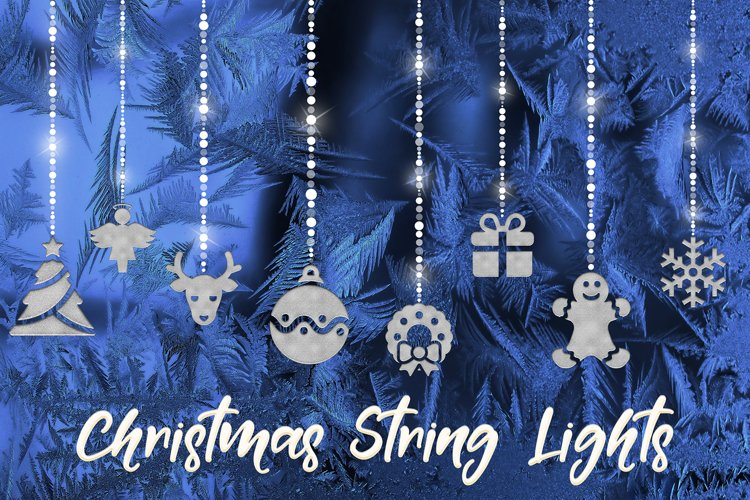 Hanging Xmas Lights - Silver example image 1