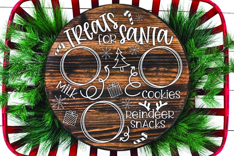 Cookies for Santa SVG, Santa Plate SVG, Treats for Santa SVG