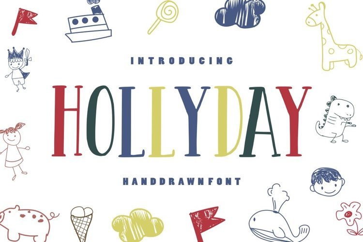 Hollyday - Handdrawn Font example image 1