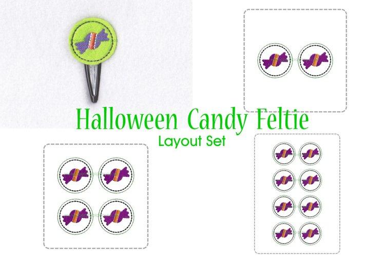 Halloween Candy ITH Halloween Feltie Embroidery Design