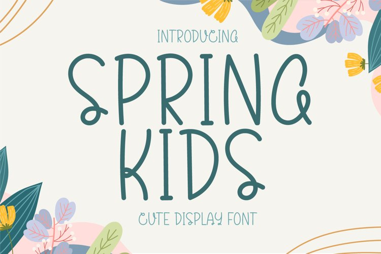 Spring Kids - Cute Display Font example image 1