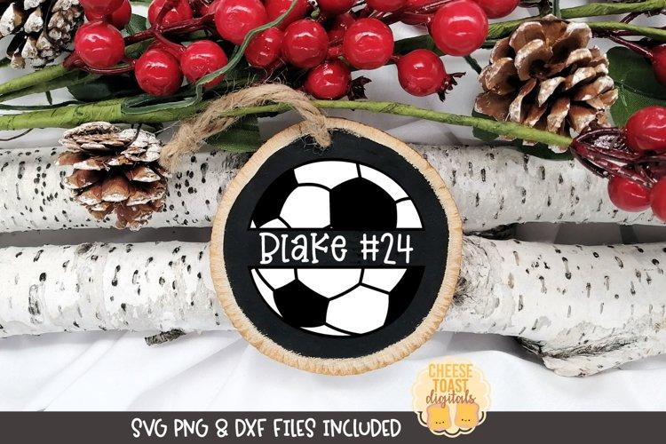 Sports Christmas Ornament SVG | Soccer
