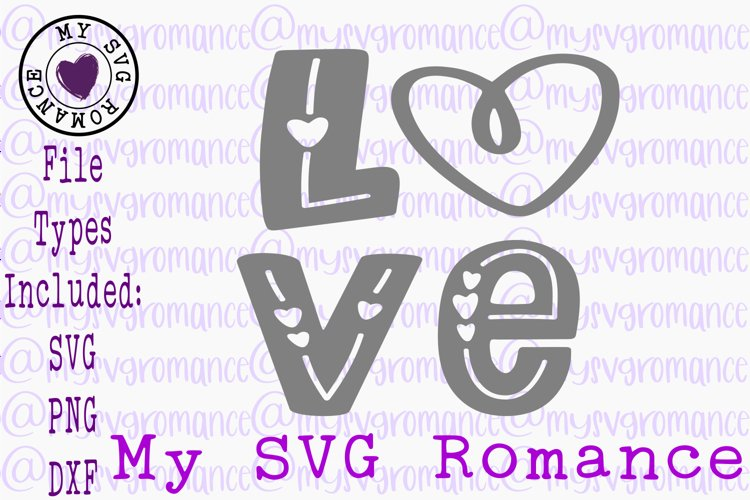 Love With Heart SVG DXF PNG