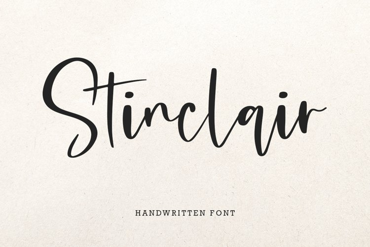 Stinclair Handwritten Font example image 1