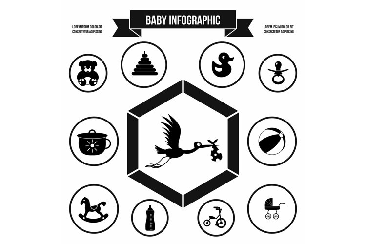 Baby infographic template, simple style example image 1