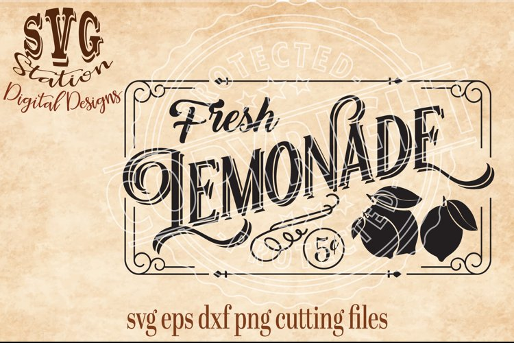 Vintage Lemonade Cut File
