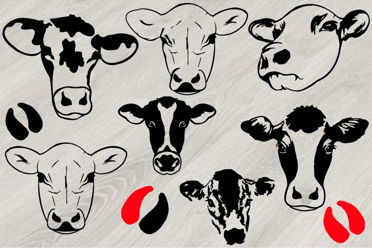 Heifer SVG, Cows Head SVG, cowboy western cow Farm Milk 796S