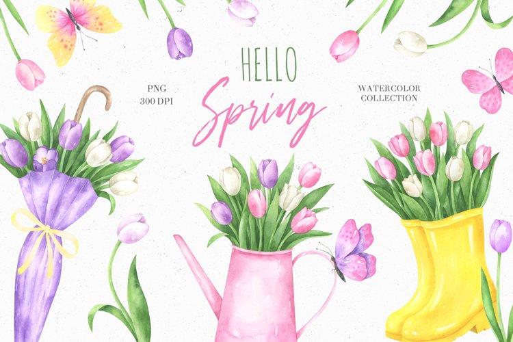 Hello Spring Watercolor Collection