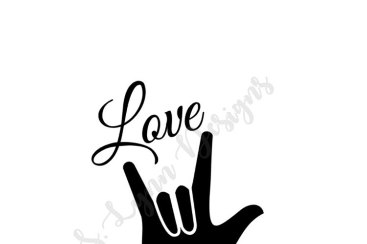 Love Sign SVG File example image 1