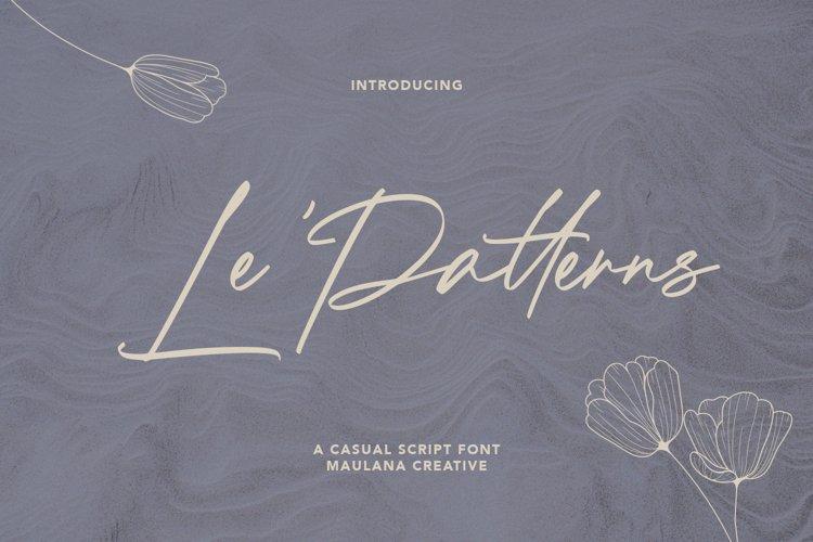 Le Patterns Script Font example image 1