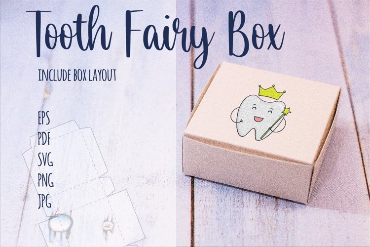 Tooth Fairy Crown Box - SVG, PNG, PDF