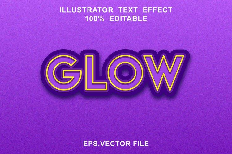 glow text effect editable vector example image 1