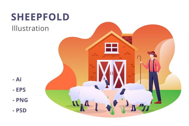 Sheepfold Illustration example image 1