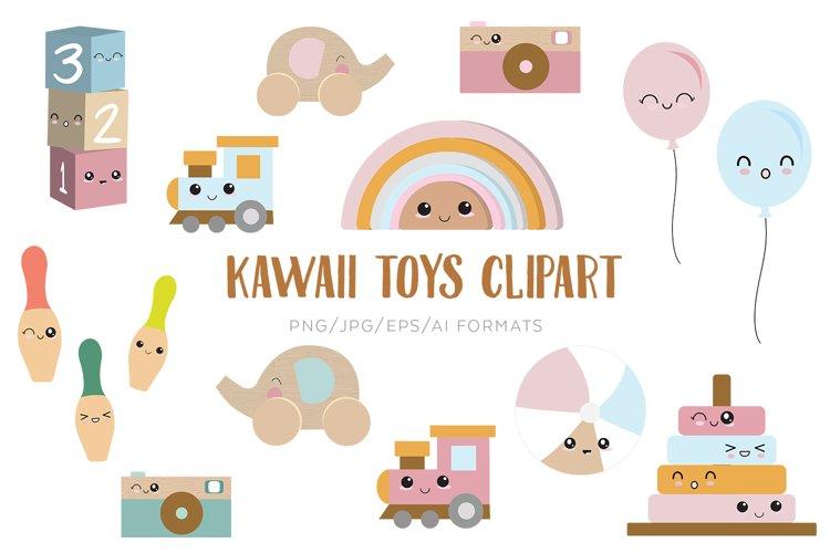 Kawaii Toys Vector Clipart