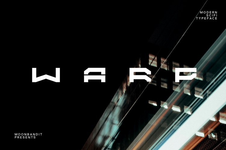 WARP - A modern scifi font example image 1