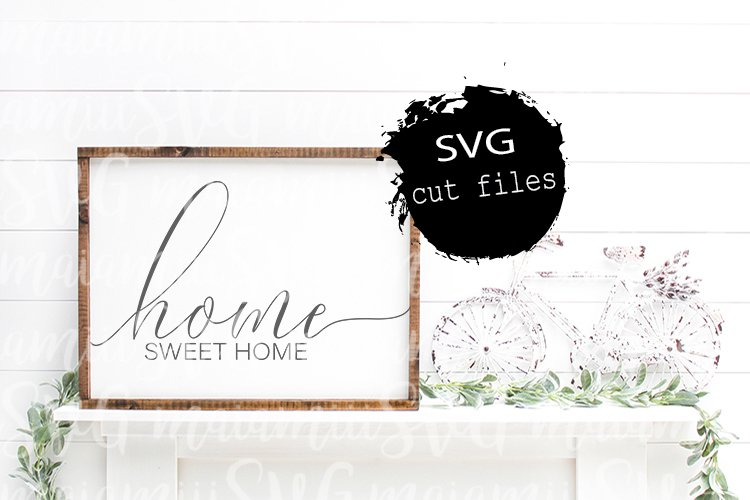 Home Sweet Home Svg, Home Svg, Family Svg, Farmhouse Svg example image 1