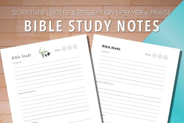 Bible Study | Scripture | Notes | Prayer example image 1