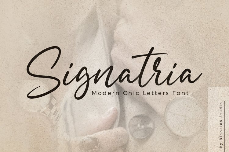 Signatria a Chic Letter Font example image 1